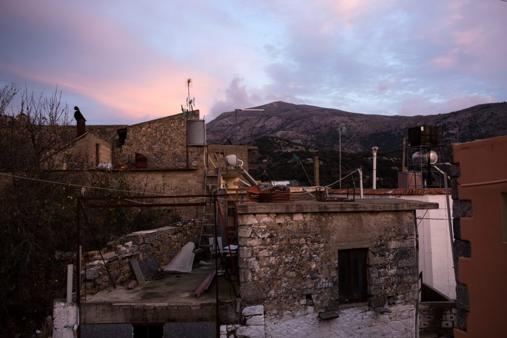 The view from Kostis and Iro's House over the village of Mesa Lasithi.