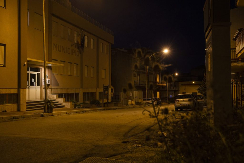 The city council of San Cipirello, where Leandro Salvia investigated mafia infiltrations.